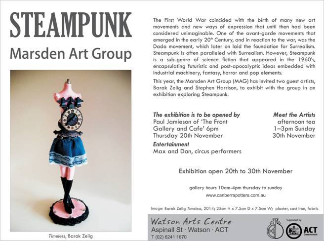 Steam Punk Exhibition Nov 20 The Front Gallery